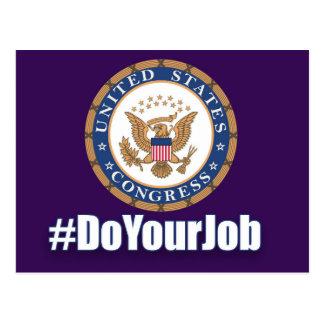 Do Your Job Congress Postcard