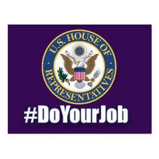 Do Your Job House of Representatives Postcard
