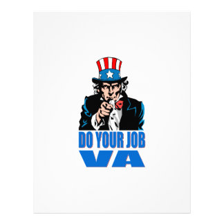 DO YOUR JOB VA (VETERANS AFFAIRS) LETTERHEAD