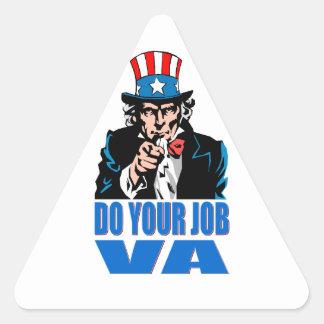 DO YOUR JOB VA (VETERANS AFFAIRS) TRIANGLE STICKER