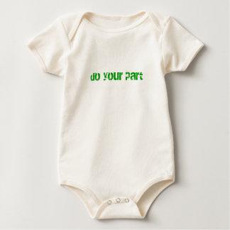 Do your part baby bodysuit