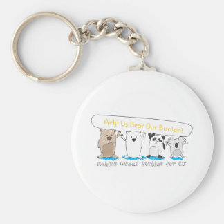Do Your Part to Find a Cure! Keychain