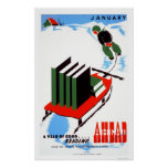 Do Your Reading Snow 1938 WPA Poster
