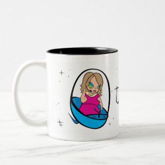 Do your Saturn! Two-Tone Coffee Mug