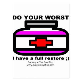 Do Your Worst Postcard
