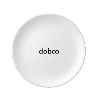 "DOB Clothing Co. Porcelain Plate 8.5"""
