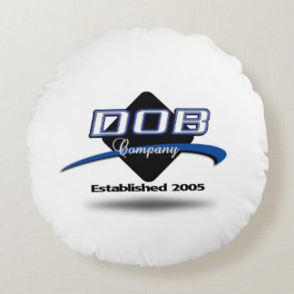 DOB Clothing Company Round Pillow (White)