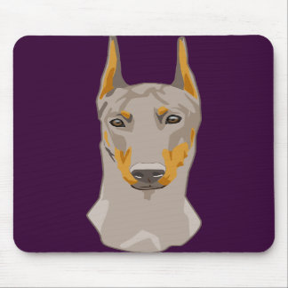 Dob erman Head, Fawn Mouse Pad