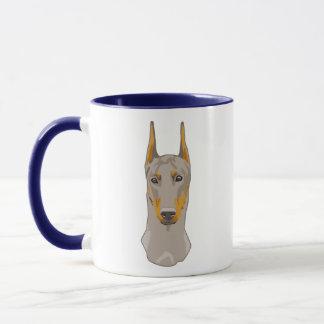 Dob erman Head, Fawn Mug