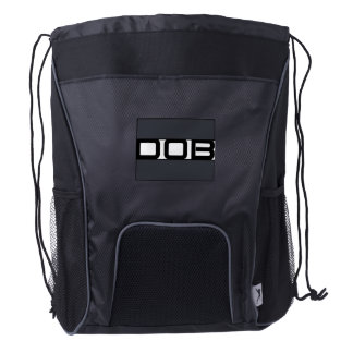 DOB Outerwear Drawstring Backpack (Black/Gray)