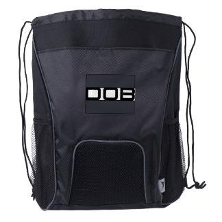 DOB Outerwear Drawstring Backpack (Black/Gray)