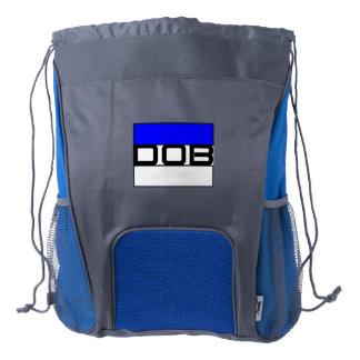 DOB Outerwear Drawstring Backpack (Blu/Gray)