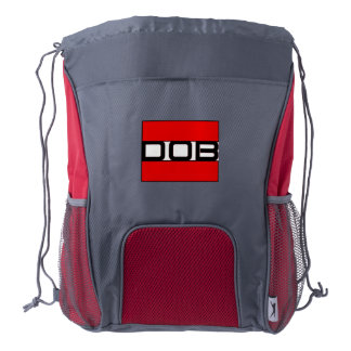 DOB Outerwear Drawstring Backpack (Red/Gray)