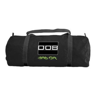 DOB - Sports Gym Duffel Tote Bag (Black) Gym Duffel Bag