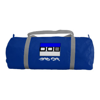 DOB - Sports Gym Duffel Tote Bag (Blue)