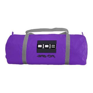 DOB - Sports Gym Duffel Tote Bag (Purple) Gym Duffel Bag