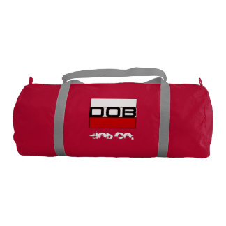 DOB - Sports Gym Duffel Tote Bag (Red)