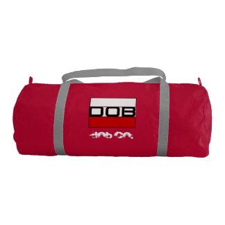 DOB - Sports Gym Duffel Tote Bag (Red) Gym Duffel Bag