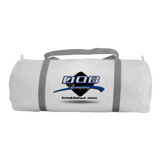 DOB - Sports Gym Duffel Tote Bag (White)