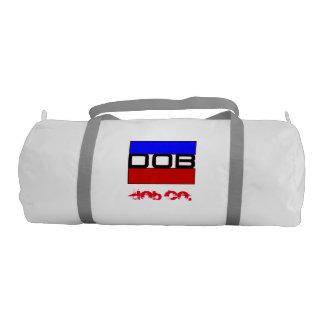 DOB - Sports Gym Duffel Tote Bag (White)