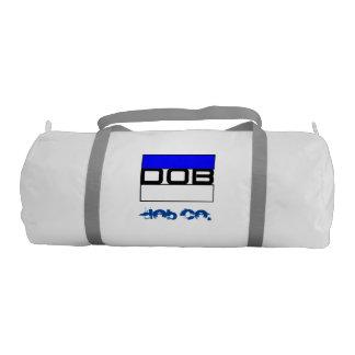 DOB - Sports Gym Duffel Tote Bag (White) Gym Duffel Bag