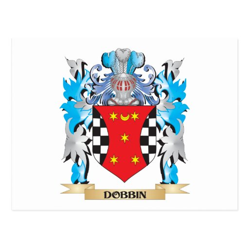 Dobbin Coat of Arms - Family Crest Post Card