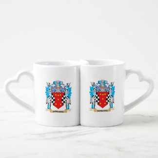 Dobbing Coat of Arms - Family Crest Couple Mugs