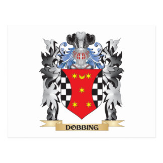 Dobbing Coat of Arms - Family Crest Postcard