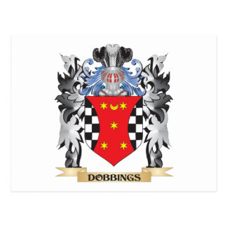 Dobbings Coat of Arms - Family Crest Postcard