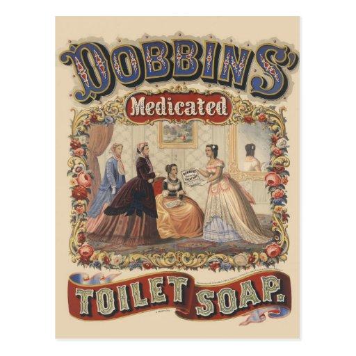 Dobbins' medicated toilet soap Advertisement Postcard