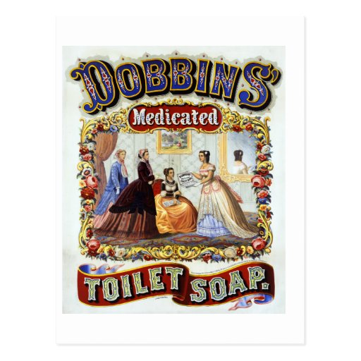 Dobbins' Medicated Toilet Soap c. 1869 Post Cards