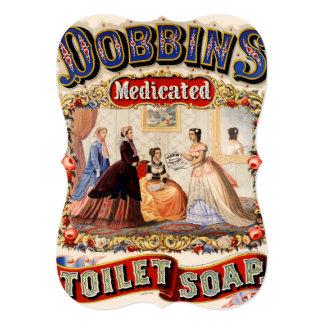 Dobbins' medicated toilet soap card