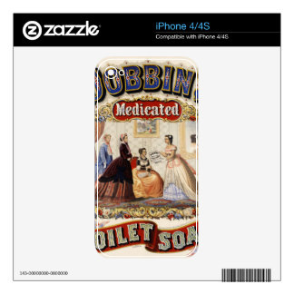Dobbins' medicated toilet soap iPhone 4S decals