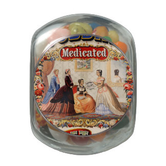 Dobbins' medicated toilet soap jelly belly candy jar