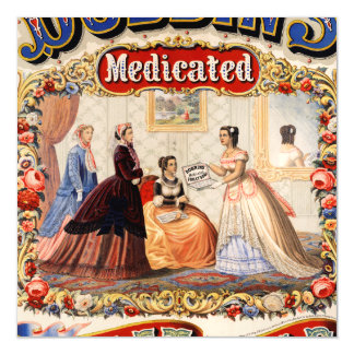 Dobbins' medicated toilet soap magnetic card