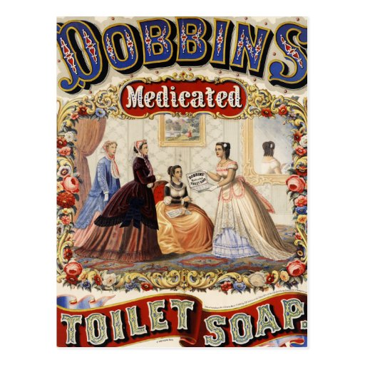 Dobbins Medicated Toilet Soap Postcard