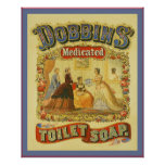 Dobbins Medicated Toilet Soap ~ Vintage Ad Poster