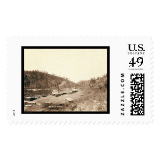 Dobbins Mills & Smoke Stack Black Hills SD 1890 Stamps