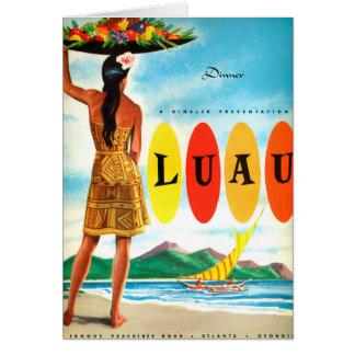 Dobbs House Luau Tiki lounge card