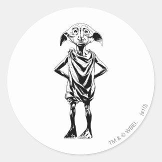 Dobby 2 round stickers