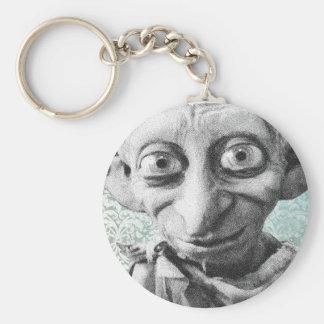 Dobby 4 basic round button keychain
