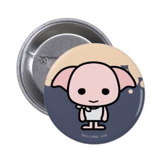 Dobby Cartoon Character Art Button