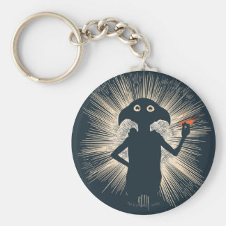 Dobby Casting Magic Basic Round Button Keychain
