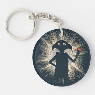 Dobby Casting Magic Double-Sided Round Acrylic Keychain