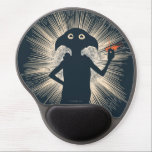 "Dobby Casting Magic Gel Mouse Pad<br><div class=""desc"">A silhouette graphic of Dobby snapping his fingers in a spell.</div>"