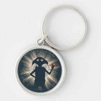 Dobby Casting Magic Silver-Colored Round Keychain