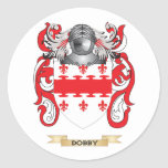 Dobby Coat of Arms Round Stickers