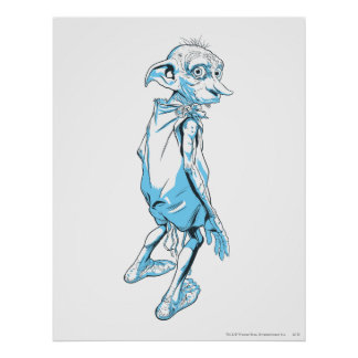 Dobby que mira sobre 1 posters