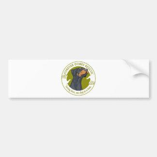 dobe-blue-uncropped-ear-logo-8-29-11 bumper sticker