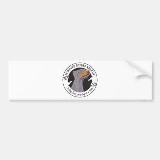 dobe-fawn2-uncropped-ear-logo-8-29-11 bumper sticker
